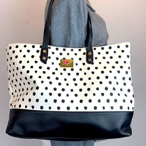 Betsey Johnson polka dot large tote bag